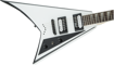 Jackson JS Series Rhoads JS32T, Amaranth Fingerboard, White with Black Bevels
