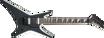 Jackson JS Series Warrior™ JS32, Amaranth Fingerboard, Black with White Bevels