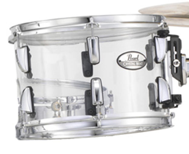 Pearl CRB1309T/C730 CRB 13 x 9 Crystal Beat Tom w/Optimount (Ultra Clear)