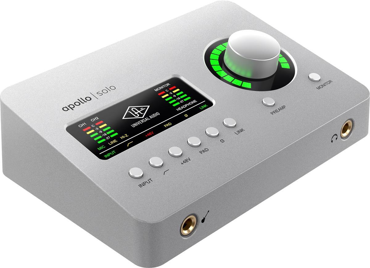 Universal Audio Apollo Solo, x2 Mic, x1 DSP, TB3 Heritage Ed.