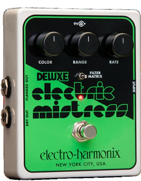 Electro-Harmonix DELUXE ELECTRIC MISTRESS XO Analog Flanger, 9.6DC-200 PSU included