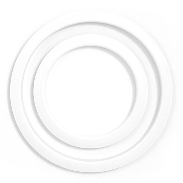 Gibraltar Bass drum Port Hole Protector - SC-GPHP-5W White