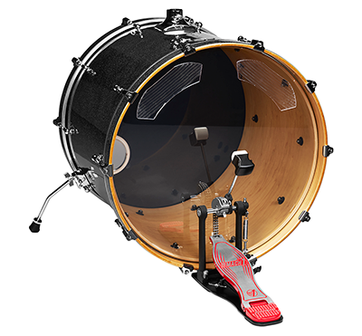 Ahead Pro Kick Bass Drum Damper (4-p)