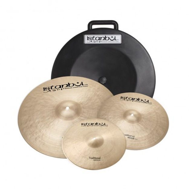 """Istanbul Agop ITRS Istanbul Agop Traditional Cymbal Set + Deluxe Bag (14""""/16""""/20"""")"""