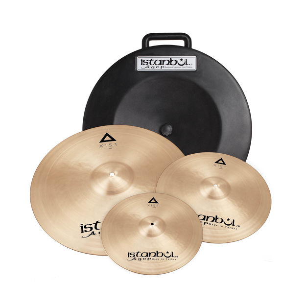 "Istanbul Agop IXS3Istanbul Agop Xist Cymbal Set + Deluxe Bag (14""/16""/20"")"