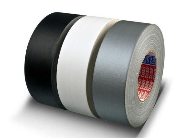 TESA 53949 Gaffa, sort, Bestselger | 50mm x 50m, bransjestandarden