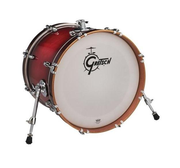 """Gretsch 18""""x14 Bass Drum Catalina Club - Gloss Crimson Brust"""