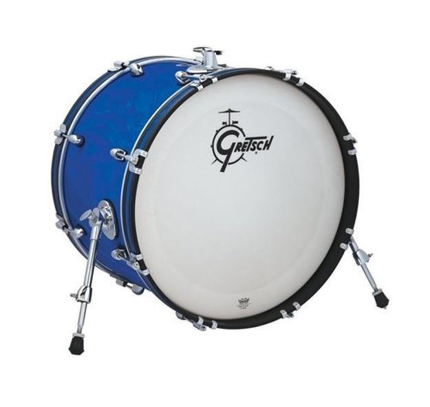 "Gretsch 20""x14 Bass Drum Catalina Club - Blue Satin Flame"
