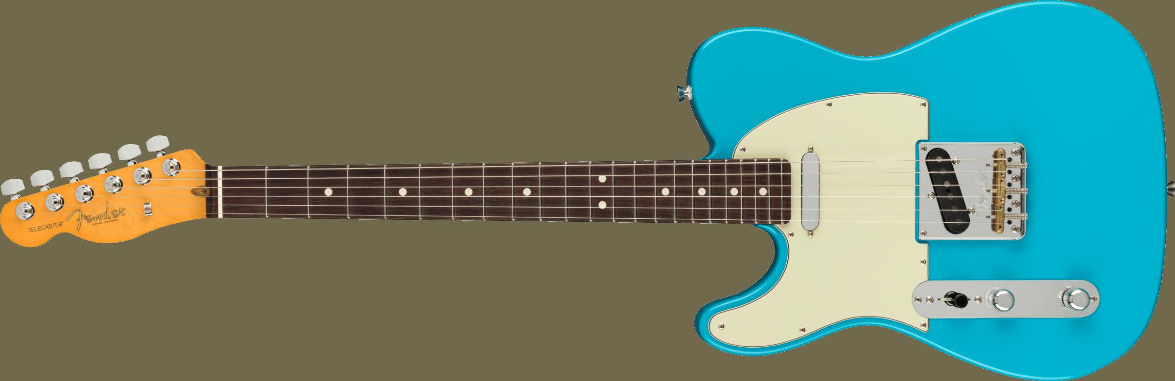 Fender American Professional II Telecaster® Left-Hand, Rosewood Fingerboard, Miami Blue
