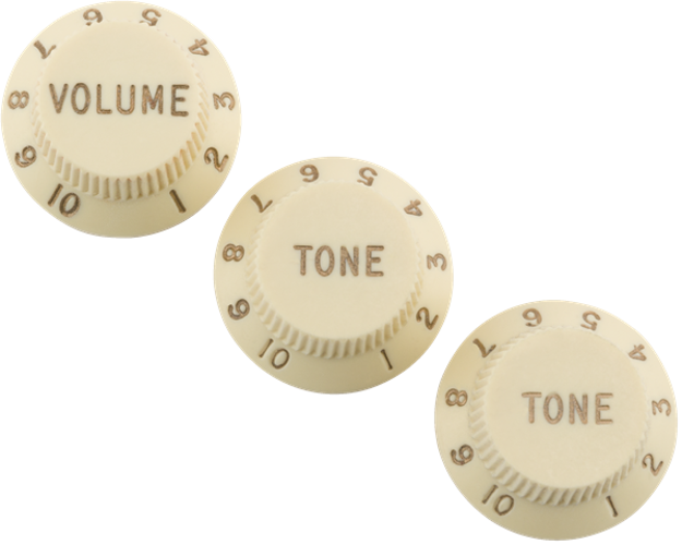Fender Road Worn® Strat® Knobs Aged White