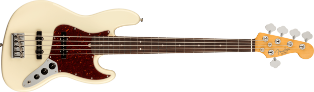 Fender American Professional II Jazz Bass® V, Rosewood Fingerboard, Olympic White