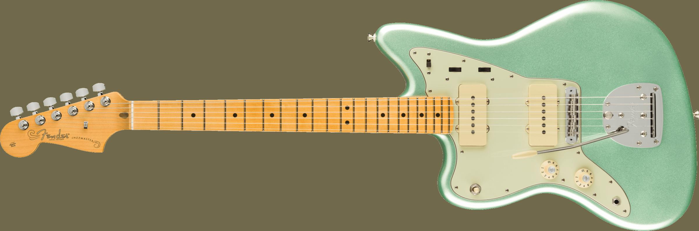 Fender American Professional II Jazzmaster® Left-Hand, Maple Fingerboard, Mystic Surf Green