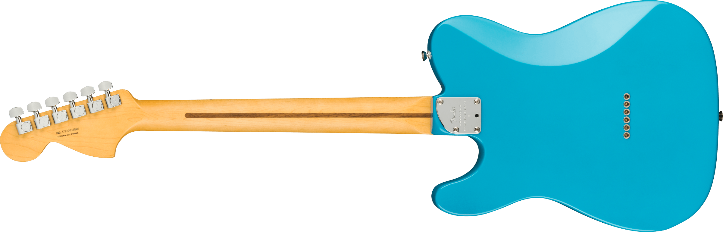 Fender American Professional II Telecaster® Deluxe, Maple Fingerboard, Miami Blue