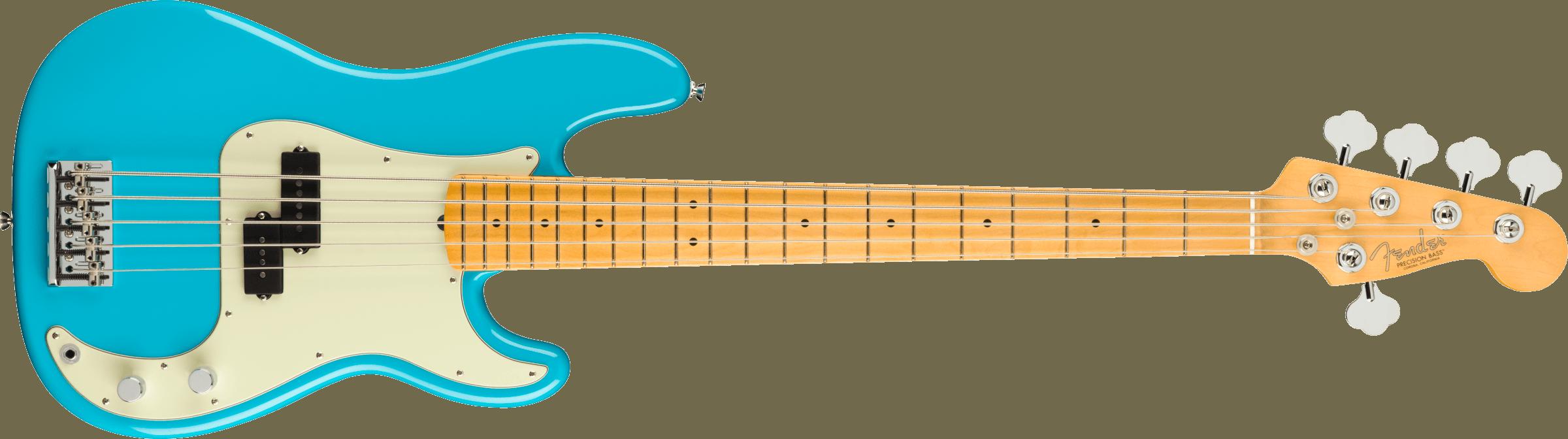 Fender American Professional II Precision Bass® V, Maple Fingerboard, Miami Blue