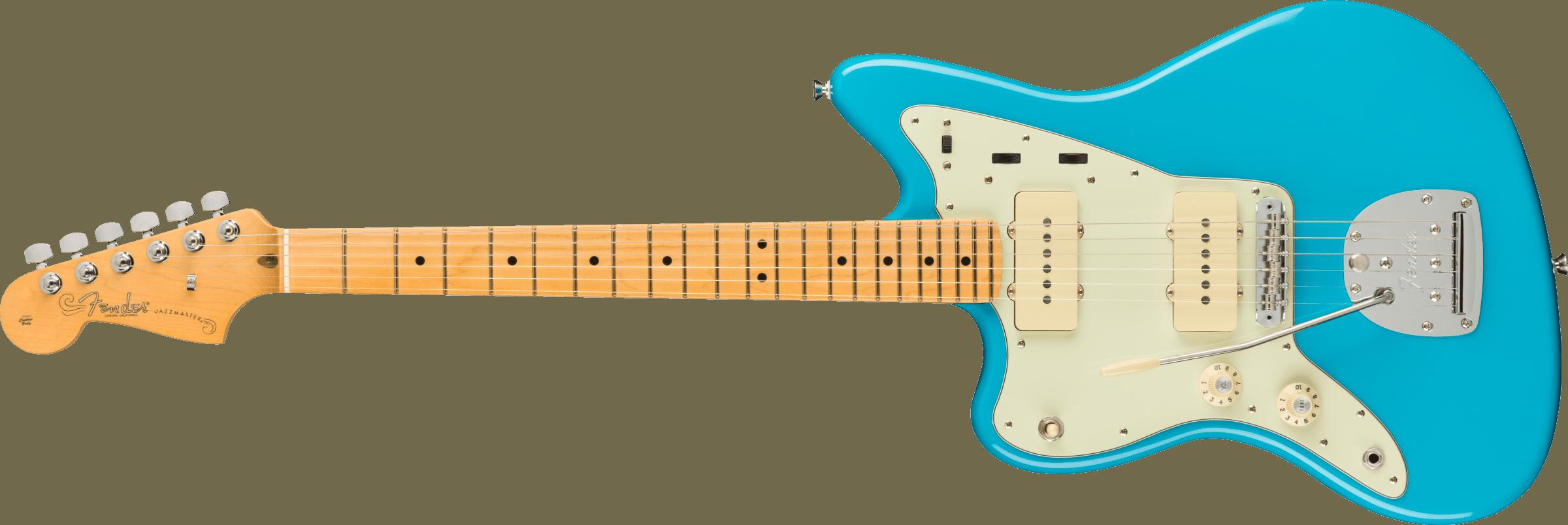 Fender American Professional II Jazzmaster® Left-Hand, Maple Fingerboard, Miami Blue
