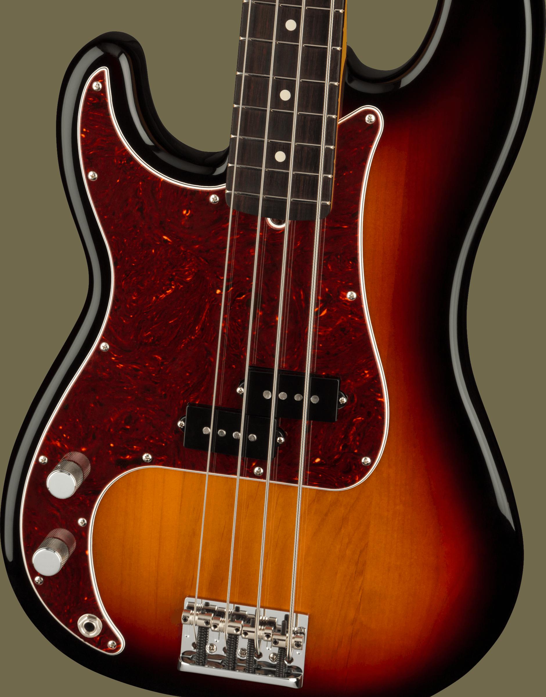 Fender American Professional II Precision Bass® Left-Hand, Rosewood Fingerboard, 3-Color Sunburst