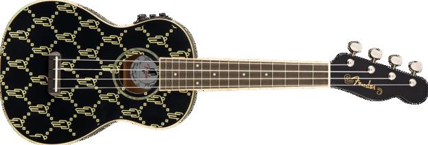 Fender Billie Eilish Uke, Walnut Fingerboard, Black