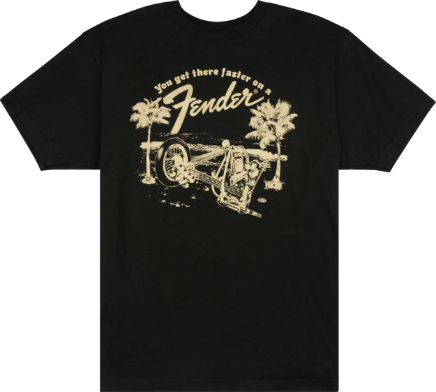 Fender Get There Faster T-Shirt, Black, L