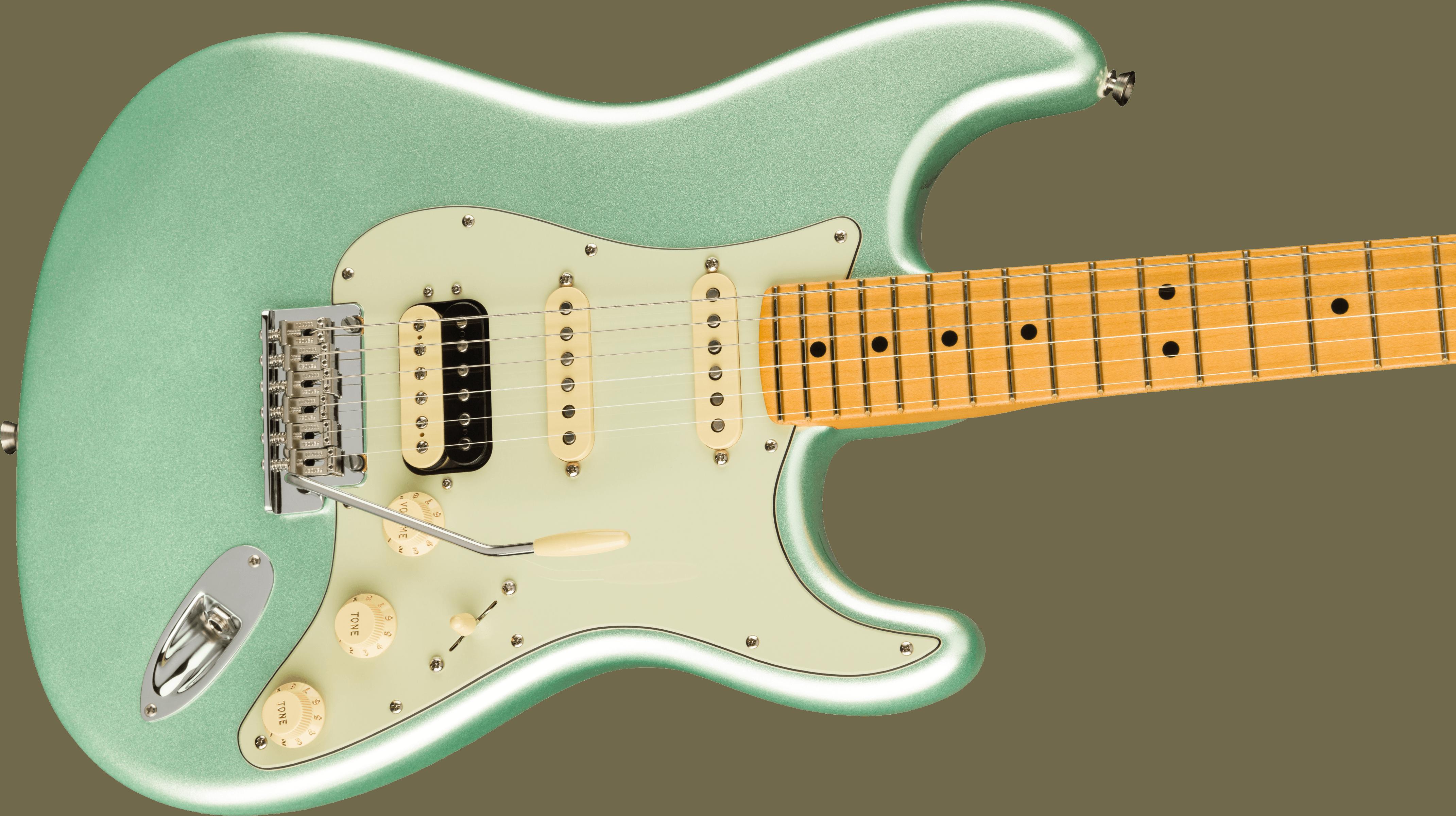 Fender American Professional II Stratocaster® HSS, Maple Fingerboard, Mystic Surf Green