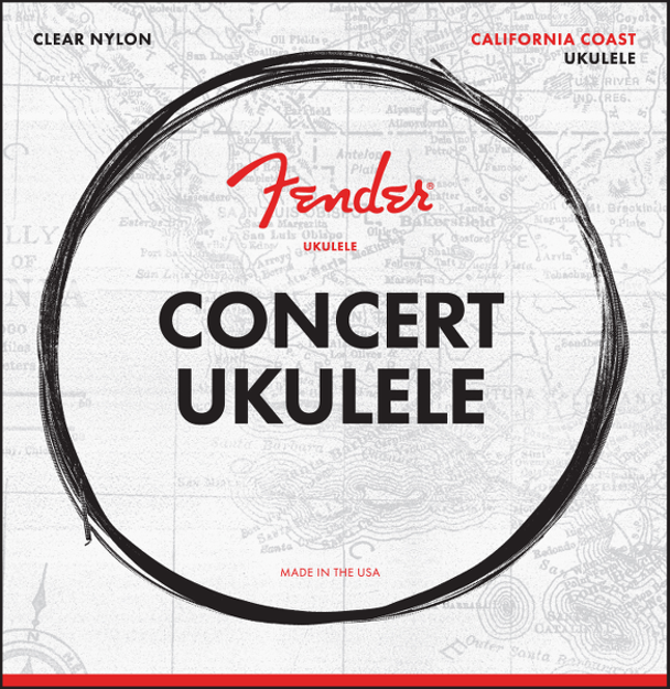 Fender California Coast Concert Ukulele Strings