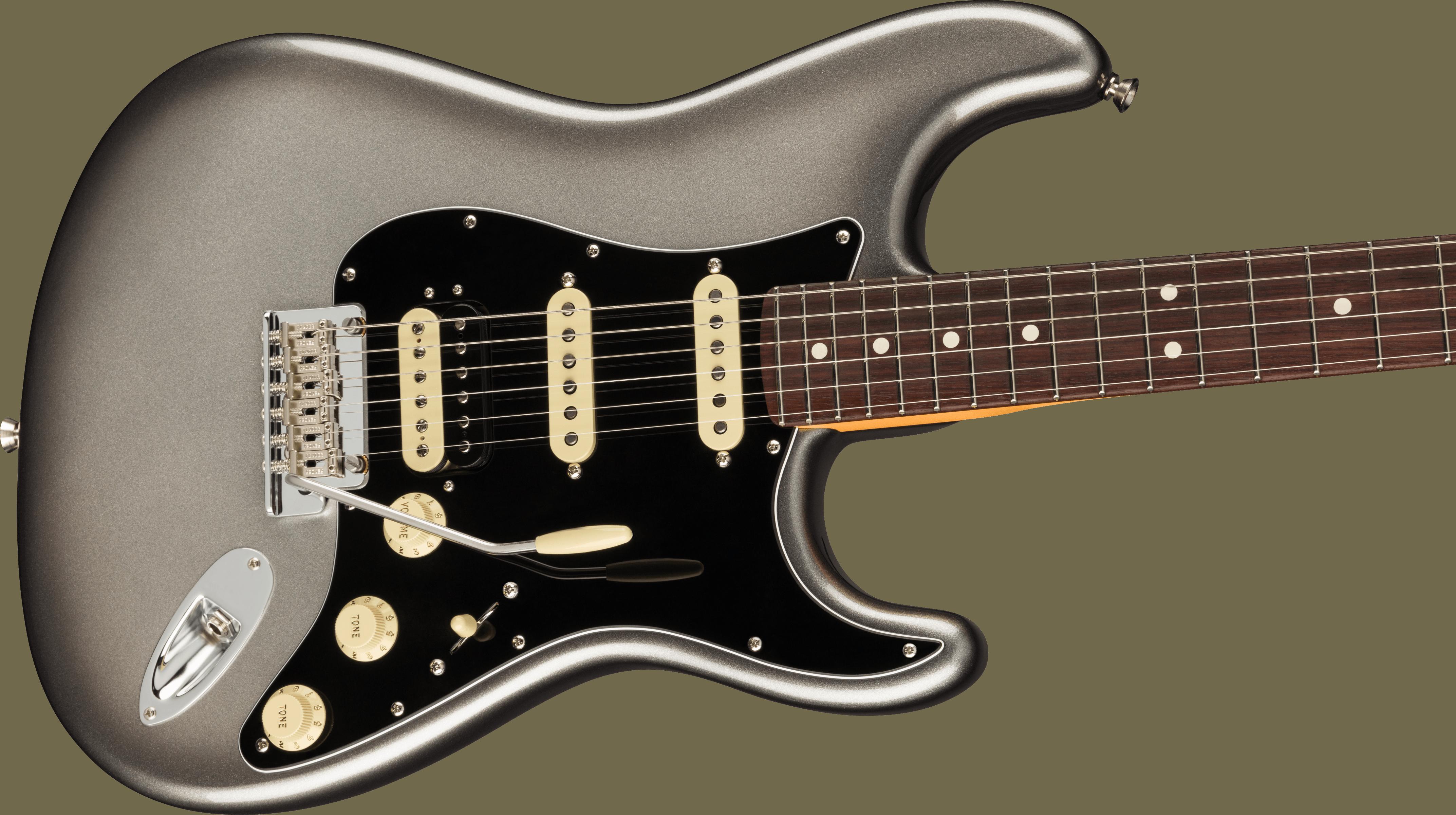 Fender American Professional II Stratocaster® HSS, Rosewood Fingerboard, Mercury