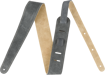 "Fender 2"" Suede Strap, Gray/Tan, Reversible"