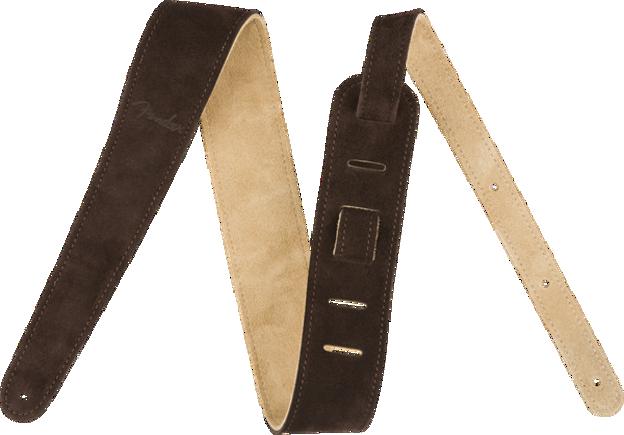 "Fender 2"" Suede Strap, Brown/Tan, Reversible"