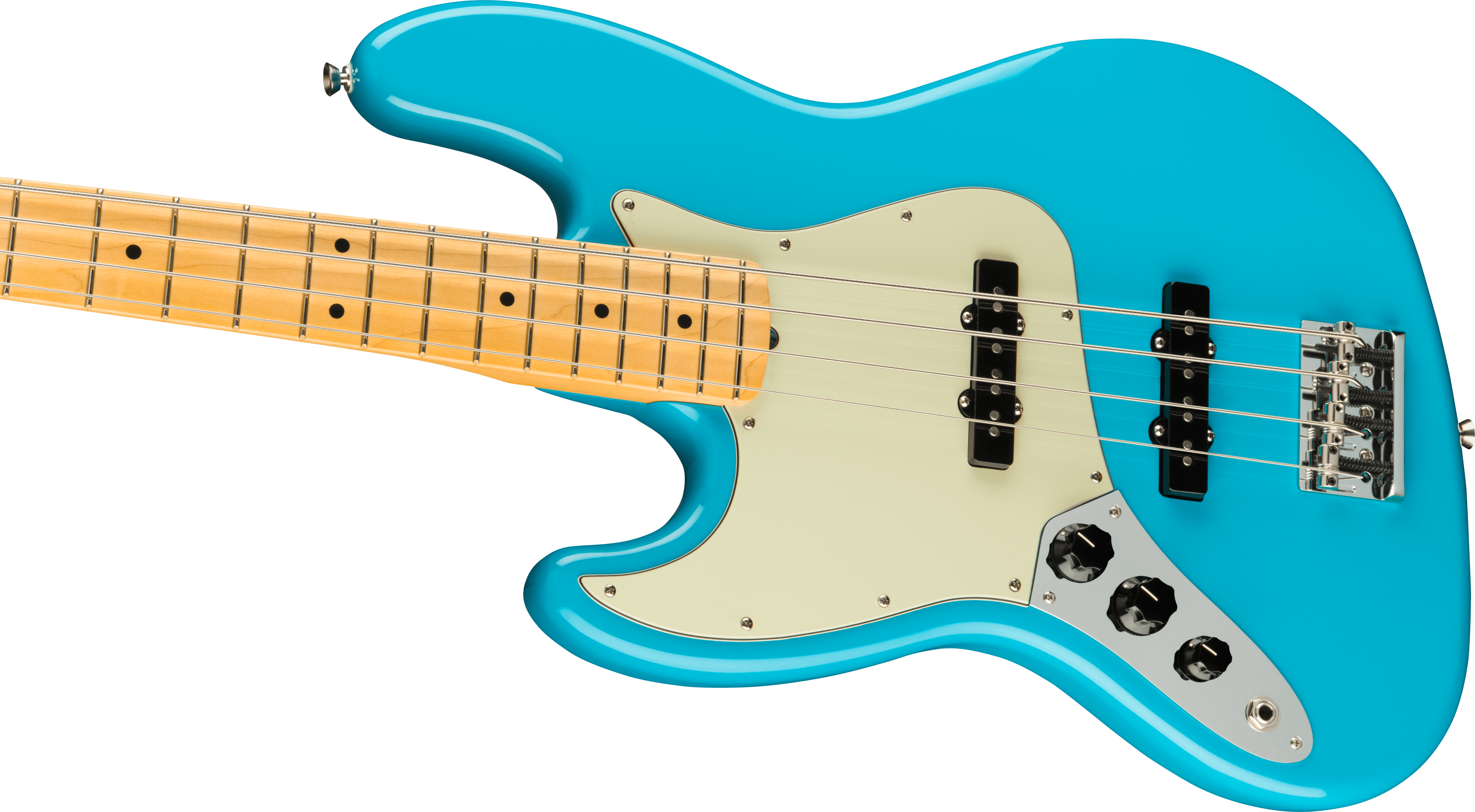 Fender American Professional II Jazz Bass® Left-Hand, Maple Fingerboard, Miami Blue
