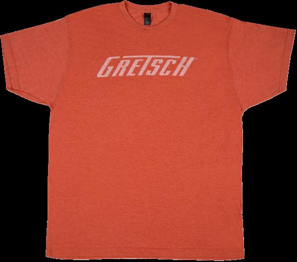 Gretsch Logo T-Shirt, Heather Orange, L