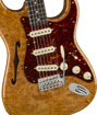Fender Custom Shop Artisan Maple Burl Stratocaster® Thinline, Roasted Ash Body with AAAA Figured Maple Burl Top, Ebony Fingerboard, Aged Natural