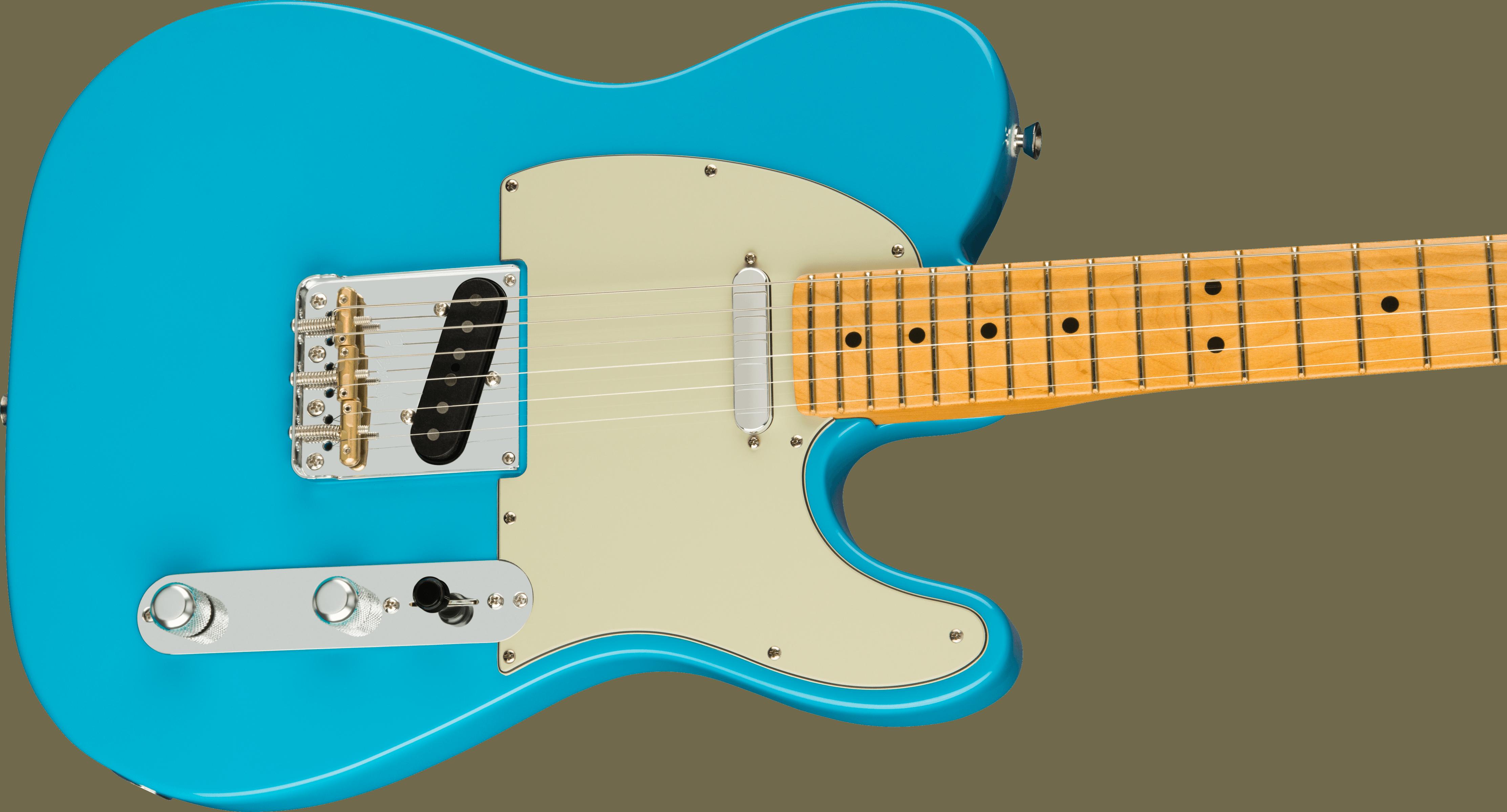 Fender American Professional II Telecaster®, Maple Fingerboard, Miami Blue