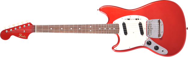 Fender 2019 Limited Edition MIJ Traditional '60s Mustang® Left-Handed, Rosewood Fingerboard, Candy Apple Red