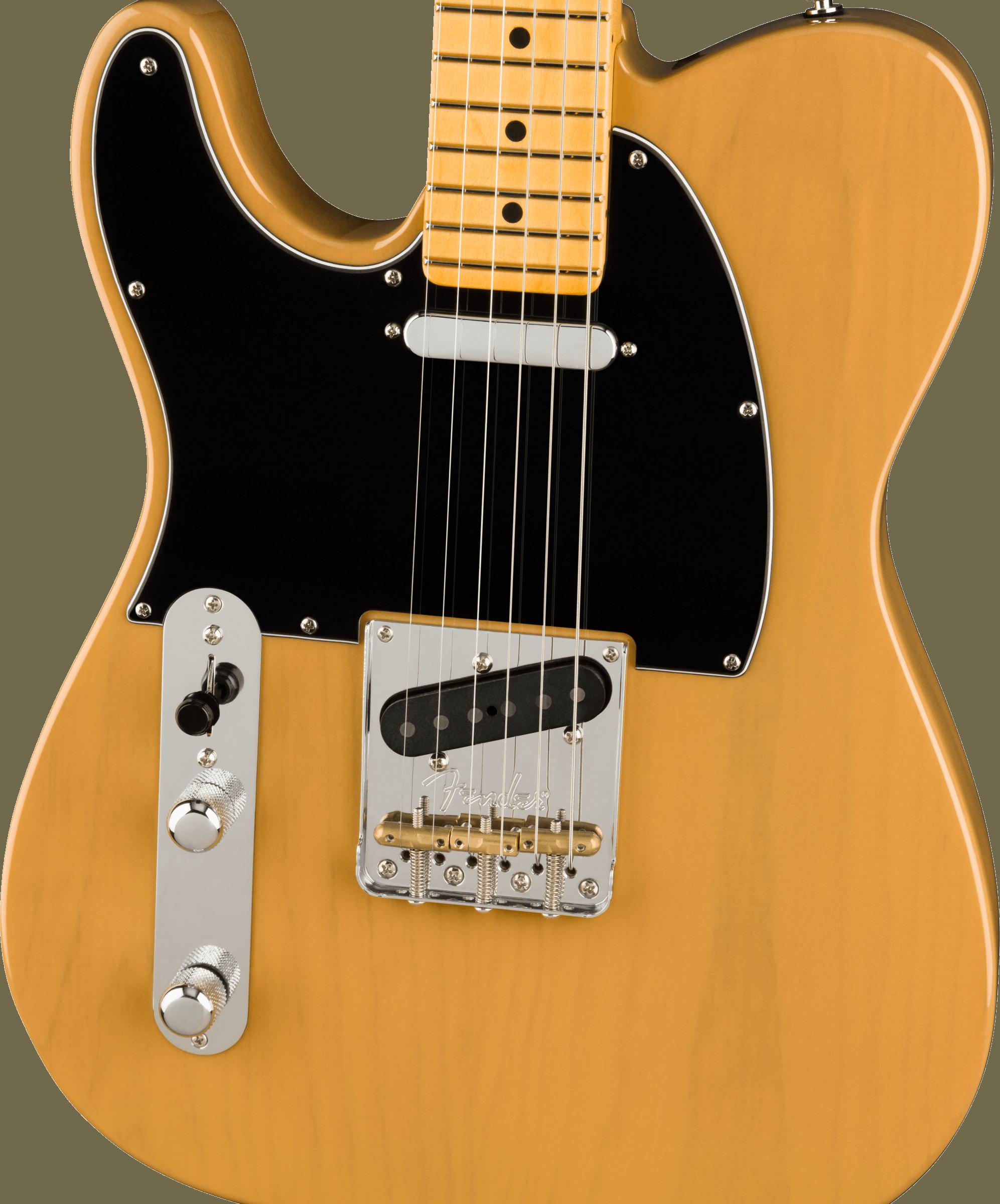 Fender American Professional II Telecaster® Left-Hand, Maple Fingerboard, Butterscotch Blonde