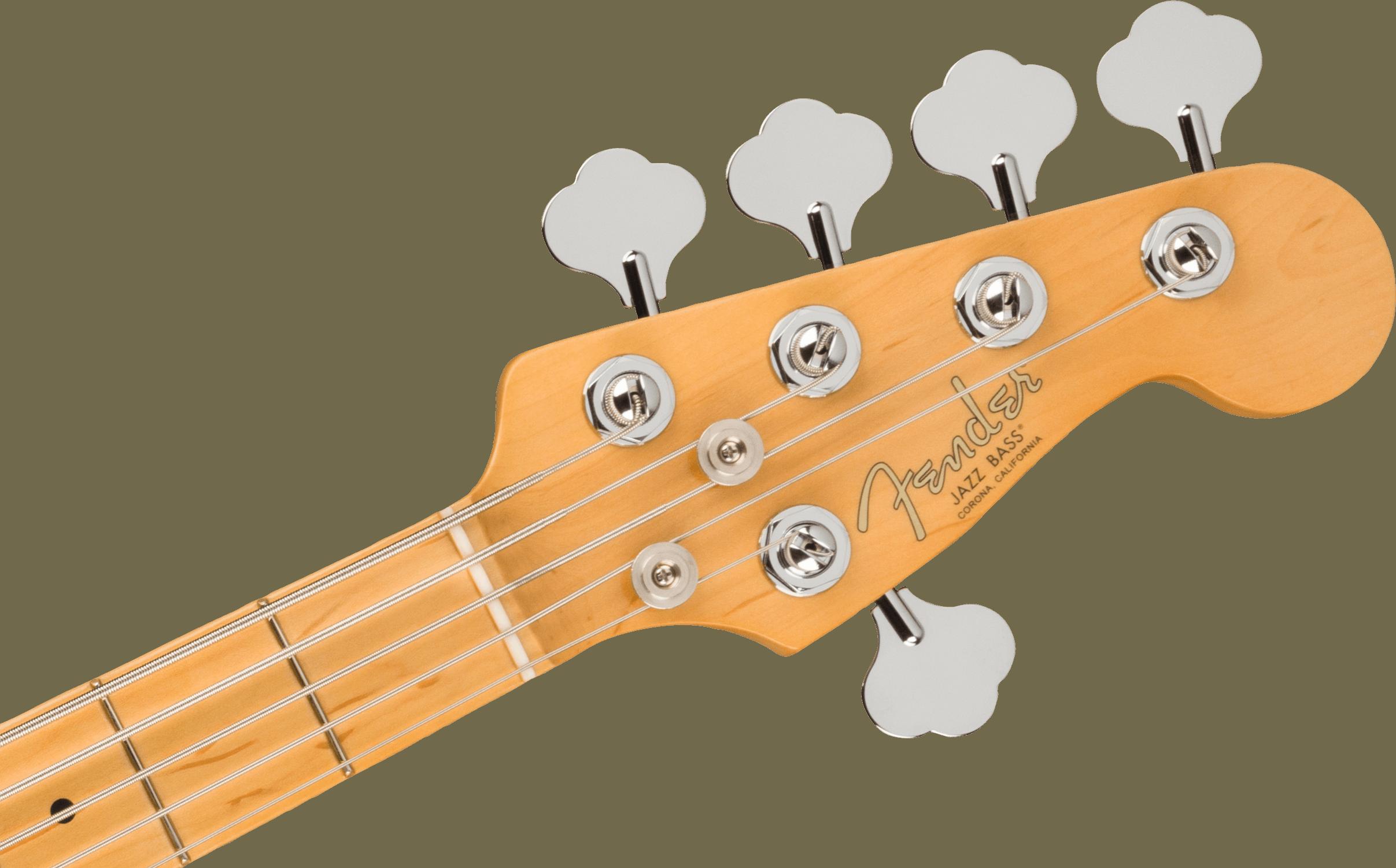 Fender American Professional II Jazz Bass® V, Maple Fingerboard, Mystic Surf Green