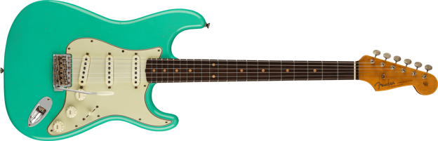 Limited Edition '62/'63 Stratocaster® Journeyman Relic®, Rosewood Fingerboard, Aged Seafoam Green