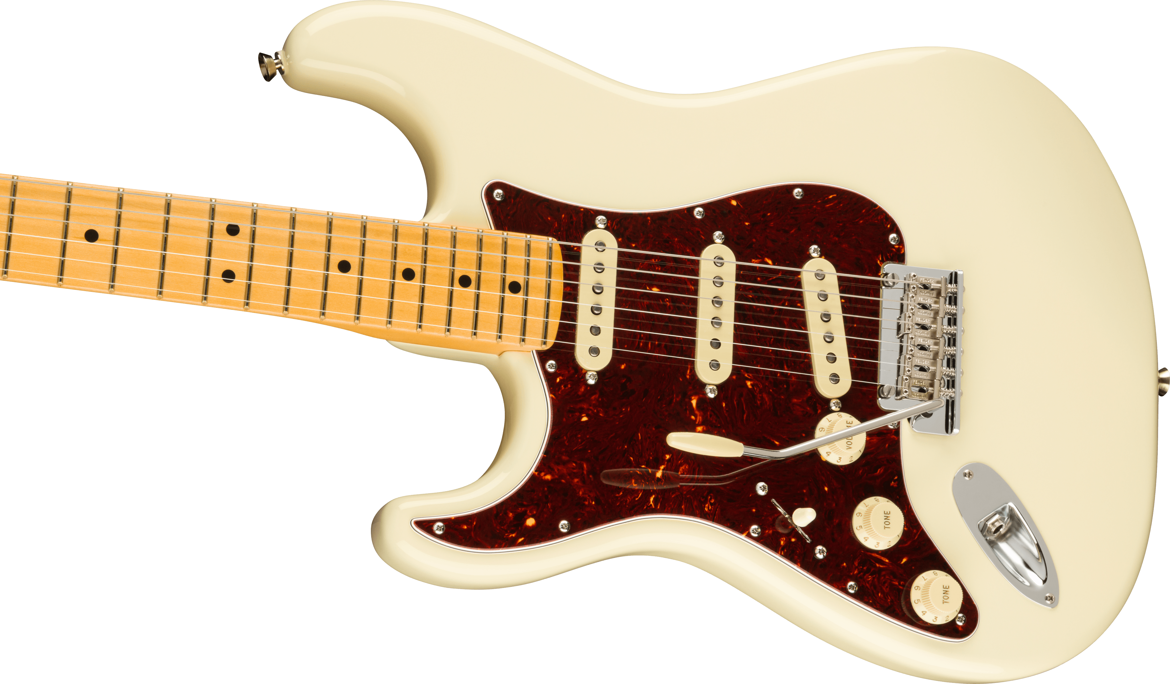 Fender American Professional II Stratocaster® Left-Hand, Maple Fingerboard, Olympic White