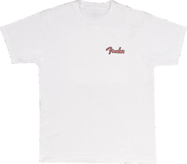 Fender Spaghetti Logo Globe T-Shirt, Wht XXL