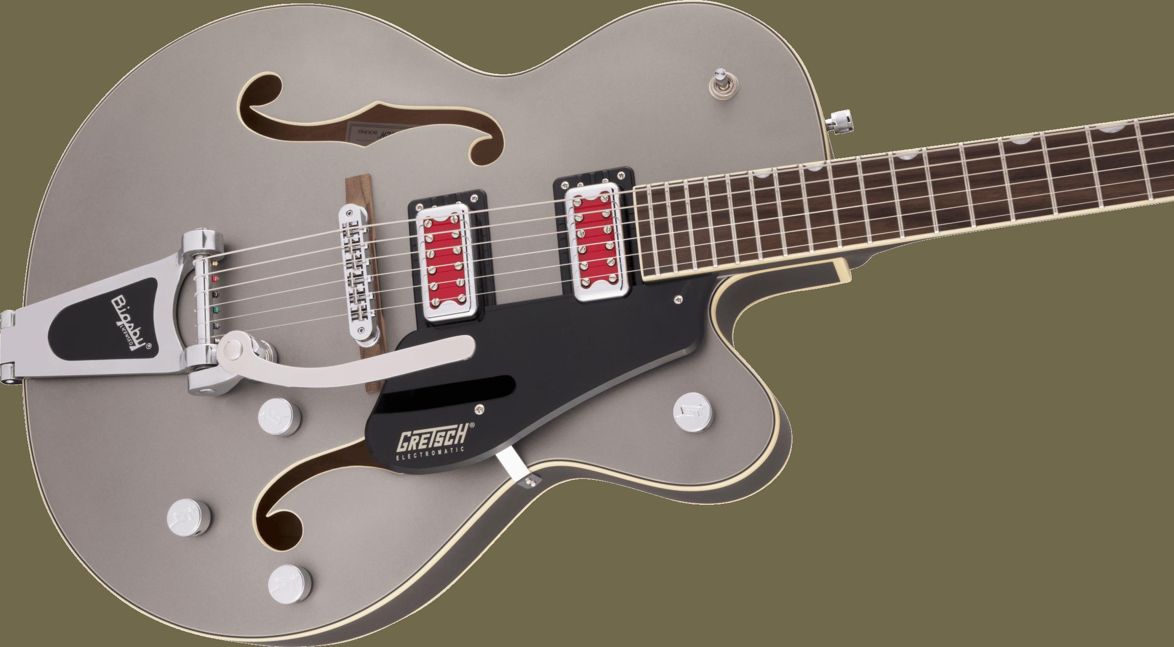 "Gretsch G5410T Electromatic® ""Rat Rod"" Hollow Body Single-Cut with Bigsby®, Rosewood Fingerboard, Matte Phantom Metallic"