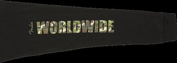 Fender Camo Logo L/S T-Shirt, Blk M