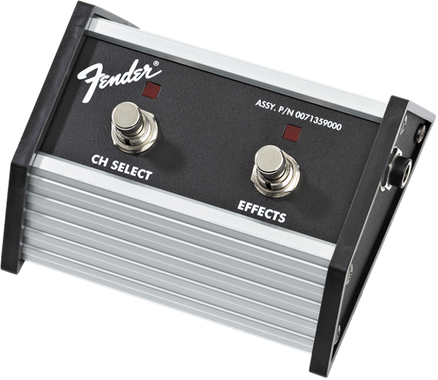 Fender 2-Button Footswitch: Channel Select-Effects On-Off