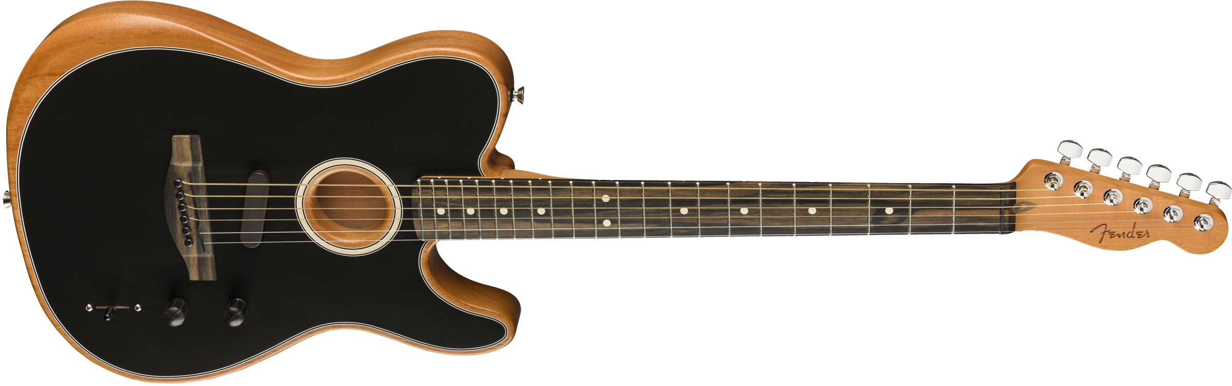 Fender American Acoustasonic® Telecaster®, Ebony Fingerboard, Black