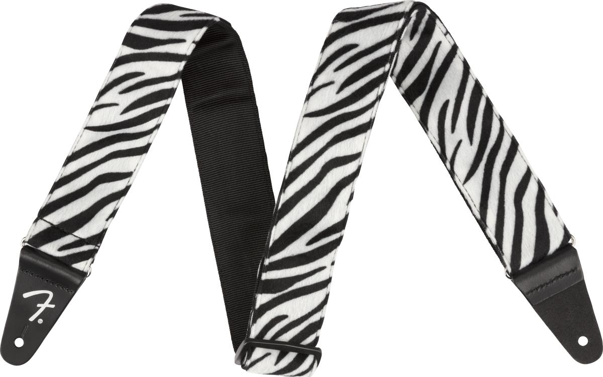 "Fender Wild Zebra Print Strap, 2"""