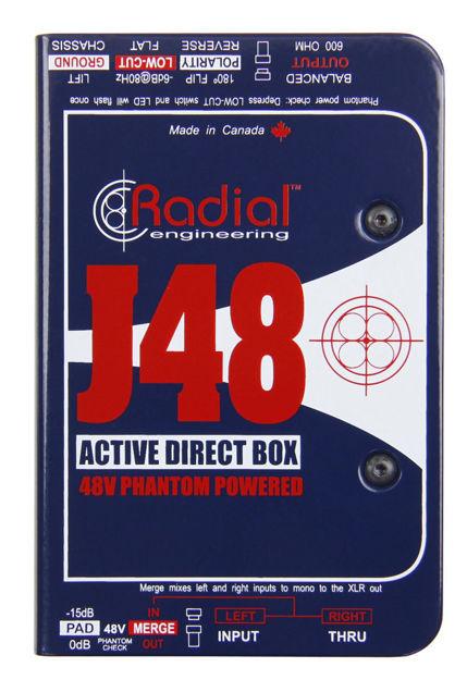 Radial J48 Phantom Powered Active Direct Box
