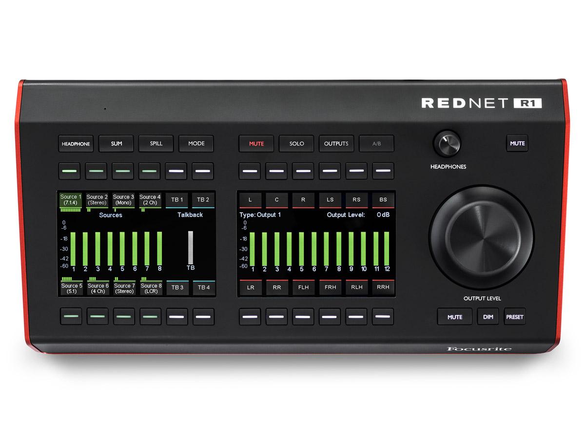 Focusrite RedNet R1   Dante monitorkontroller med talkback