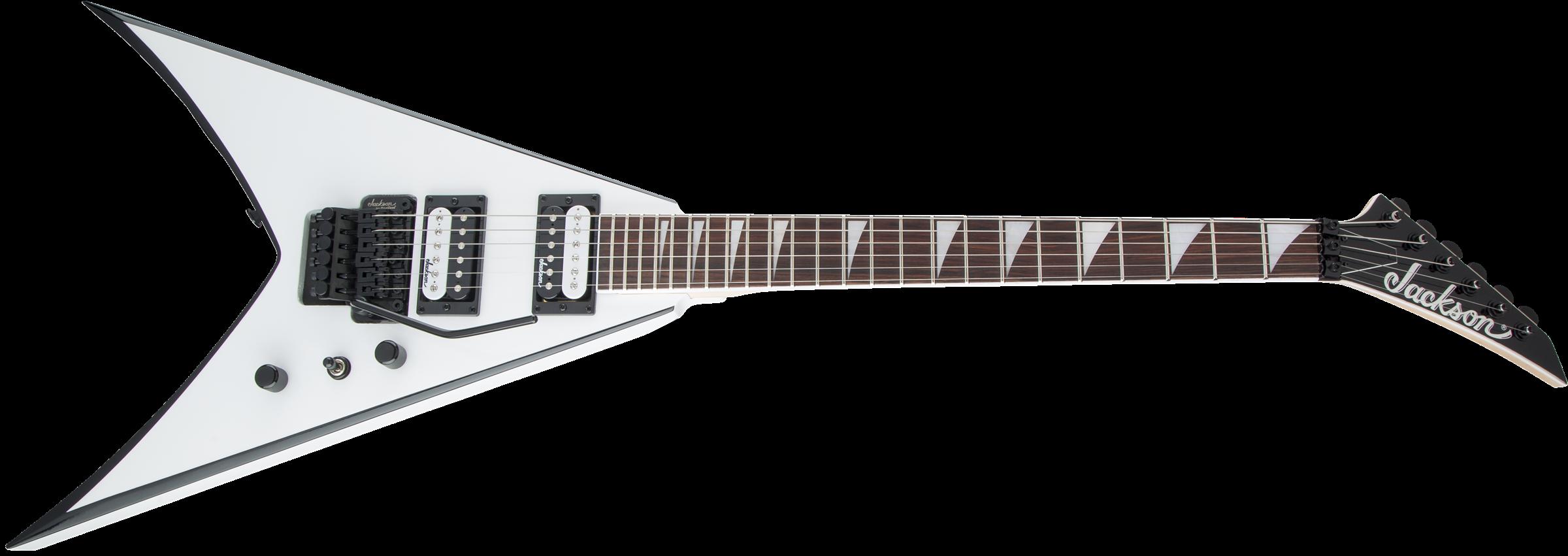 Jackson JS Series King V™ JS32, Amaranth Fingerboard, White with Black Bevels