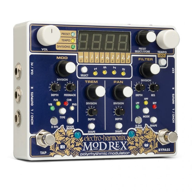 Electro-Harmonix MOD REX Polyrhythmic Modulator, 9.6DC-200 PSU included