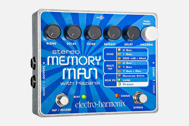 Electro-Harmonix STEREO MEMORY MAN WITH HAZARAI Digital Delay/Looper, 9.6DC-200 PSU included