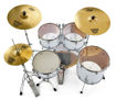 Pearl Export 5 pc Drum Set with HWP830 and SBR Cymbal Pack | Matt White