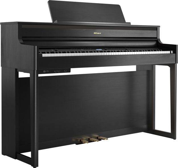 Roland HP704 Premium  Concert Class Piano (Charcoal  Black)