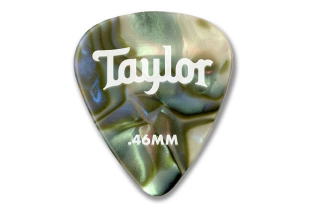 TaylorWare  Taylor Celluloid 351 Picks, Abalone, 0.46mm, 12-Pack